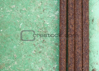 Old wall with rusty pipes background