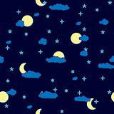 Abstract night clouds background. Seamless.