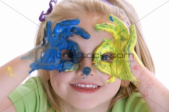 Little Child as Painter