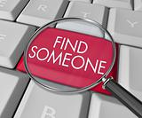 Find Someone Key on Computer Keyboard