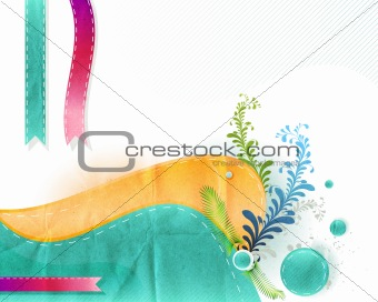 abstract background with plant elements