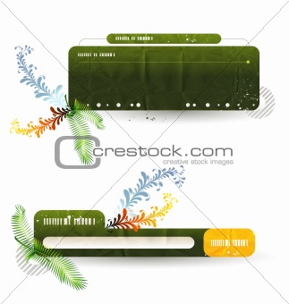 abstract vector banners for your site