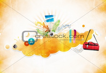 abstract vector poster for your text