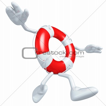 3D Lifebuoy Character