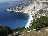 Scenic view of Myrtos beach