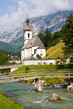 Little church in the alps