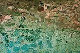 Old painted messy wall background