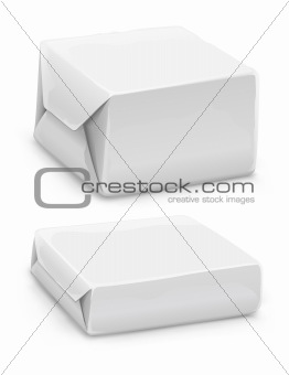 closed white paper boxes
