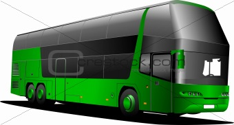 Green tourist bus