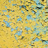 Yellow doncrete painted old wall texture