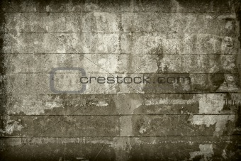 Old wall covered with boards