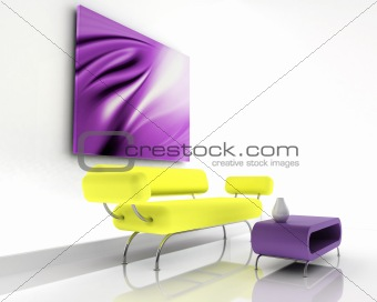 3d render of sofa