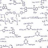 Chemistry Formulas. Seamless.