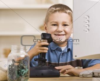 Boy Playing Computer Games