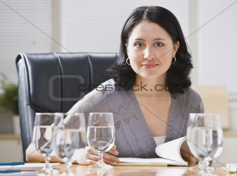 Woman at Desk in Office