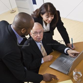 Business People Workin on Laptop