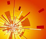 Orange background with explosion