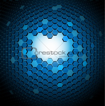 3D Abstract technical background