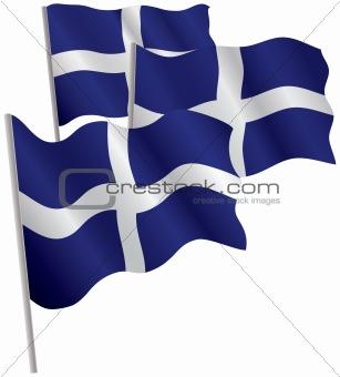 Greece 3d flag.