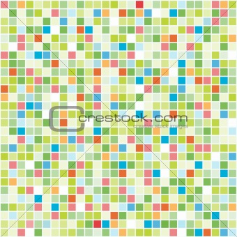 Vector Seamless Colourful Tiles.