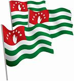 Republic of Abkhazia 3d flag.