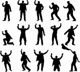 successful businessman  silhouettes
