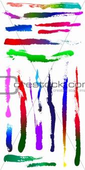 Dirty grunge scratch splat spot cracked Shapes 7