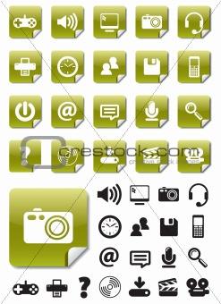 Green Media Stickers