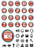 Red Metal Media Icons