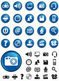 Blue Media Icons