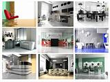Collection of images of modern office