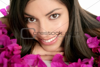 Beautiful indian and boungainvillea flowers