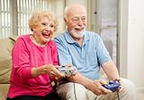 Senior Couple - Video Gaming