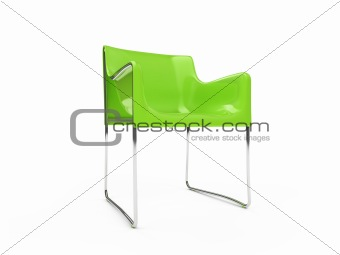Armchair over white