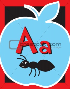 Flash Card Letter A Nouns