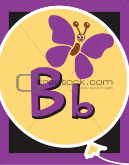 Flash Card Letter B Nouns