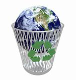 Earth in Crisis - the World in Recycling Bin