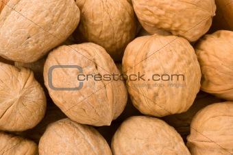 Background of walnuts.