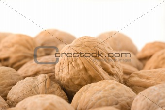 Background of walnuts.