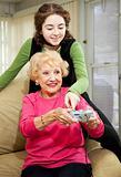 Teen Helps Grandma