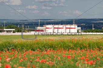 oil storage at poppy field