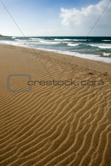 beautiful beach sand shap