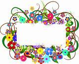 floral blank banner