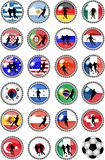 big set of soccer buttons - national teams