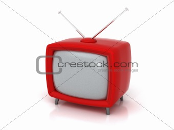 Old red TV | 3D