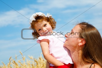 Mom and daughter enjoying time together