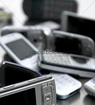 Assorted mixed mobile phones