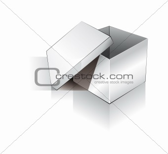 3D Open Shipping Box