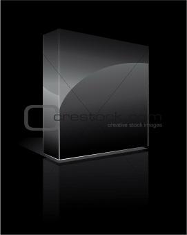 Black Three Dimensional Box