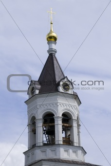 A belltower of the Christmas monastery in Vladimir